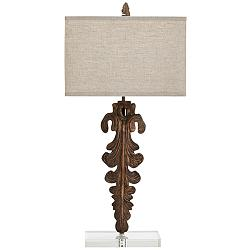 Soren Abstract Modern Sculpted Wood Table Lamp