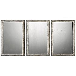 "Alcona Silver 13 3/4"" x 19 3/4"" Wall Mirrors Set of 3"