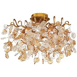 "Eurofase Campobasso 20 1/2"" Wide Gold 5-Light Ceiling Light"