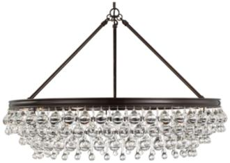 "Calypso 30"" Wide Vibrant Bronze and Crystal Chandelier (9G009) 9G009"