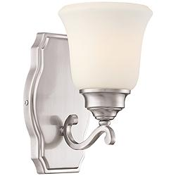 "Savannah Row 9 1/4"" High Brushed Nickel Wall Sconce"