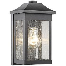 "Artcraft Morgan 10 1/2""H Black Outdoor Wall Light"