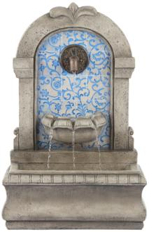 "Manhasset 30 1/4"" High Stone and Blue Outdoor Wall Fountain (9M494)"