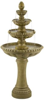 "Sag Harbor 60"" High Stone 4-Tier LED Outdoor Floor Fountain (9M553)"
