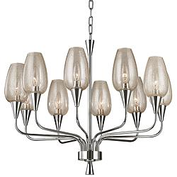 "Longmont 25 1/4"" Wide Polished Nickel Chandelier"