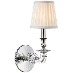 "Lapeer 14"" High Polished Nickel 1-Light Wall Sconce"
