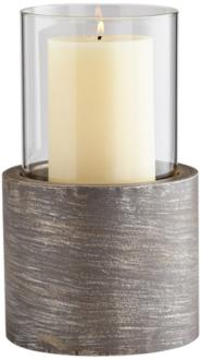 Cyan Design Valerian Graphite Small Pillar Candle Holder (9T266) 9T266