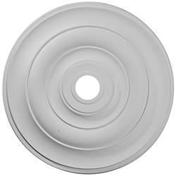 "Jefferson 26 1/2"" Wide Primed Round Ceiling Medallion"