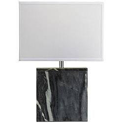 Carlson Gray Marble Square Table Lamp