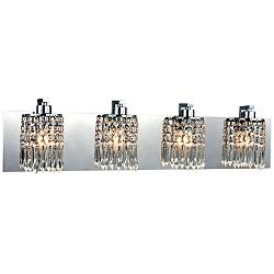 "Optix 28"" Wide Polished Chrome 4-Light Bath Light"