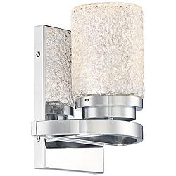 "George Kovacs Brilliant 9"" High LED Chrome Wall Sconce"