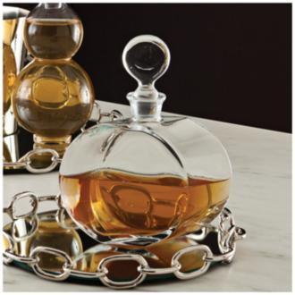 Hestand Round Clear Glass Decanter (9W918) 9W918