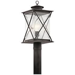 "Kichler Argyle 19 1/2""H Weathered Zinc Outdoor Post Light"