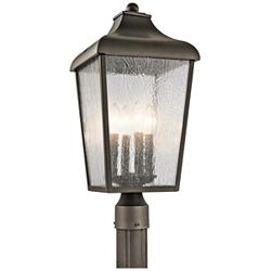 "Kichler Forestdale 21 3/4""H Old Bronze Outdoor Post Light"