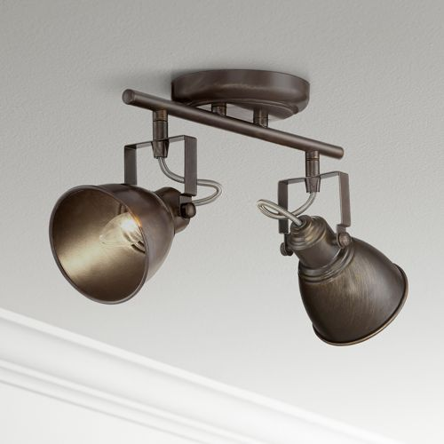 Pro Track® Abby 2-Light Bronze Track Fixture