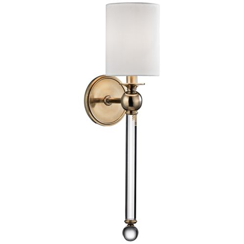 "Hudson Valley Gordon 22 1/4"" High Aged Brass Wall Sconce"