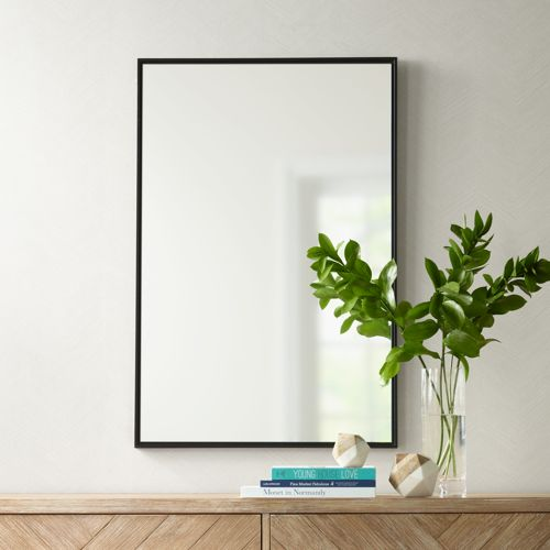 "Uttermost Andrew Black 24"" x 36"" Wall Mirror"