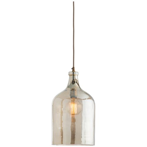 "Arteriors Home Noreen 10""W Smoke Luster Glass Mini Pendant"