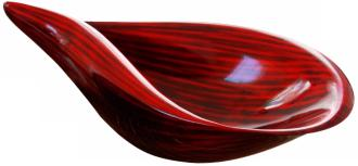 Large Red Black Shell Bowl (G6967) G6967