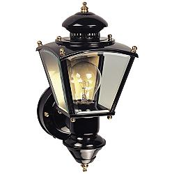 Charleston Coach Black Motion Sensor Outdoor Light