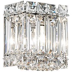 "Schonbek Quantum Collection 5"" High Crystal Wall Sconce"
