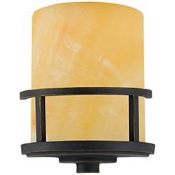 "Kyle Collection Marble Glass 11"" High Wall Sconce"