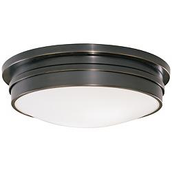 "Roderick Collection Bronze 17"" Wide Flushmount Ceiling Light"