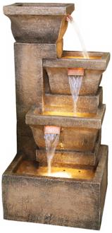 "Ashboro Lighted Indoor-Outdoor 33"" High Water Fountain (K5050)"