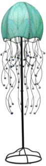 "Eangee Jellyfish Blue Cocoa Leaves 64"" High Floor Lamp (M2180)"