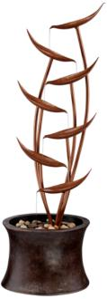 "Tiered Copper Leaves Indoor Outdoor 41"" High Fountain (M3241)"