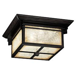 "Hickory Point 15"" Wide Bronze Outdoor Ceiling Light"