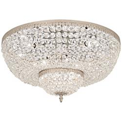 "Schonbek Rialto 24"" Wide Gold Spectra Crystal Ceiling Light"