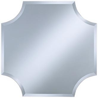 "Cut Corner Frameless 30"" High Beveled Wall Mirror (P1632)"