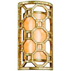 "Regatta Silver Leaf Mosaic 17 3/4"" High Corbett Wall Sconce"
