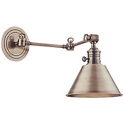 Hudson Valley Garden City Nickel Swing Arm Wall Lamp