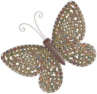 pressed bottle cap butterfly wall art (r2942)