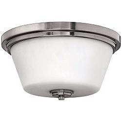 "Hinkley Avon Collection Nickel 15"" Wide Ceiling Light"