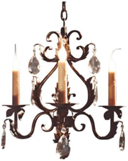 "Laura Lee Michelle 3-Light 20"" Wide Small Crystal Chandelier (R5336)"