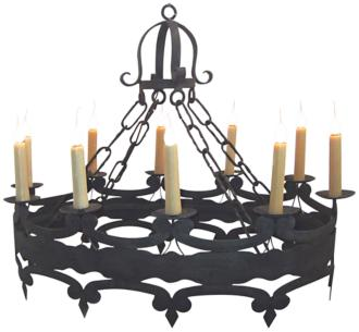 "Laura Lee Oval 10-Light 39"" Wide Large Candle Chandelier (R5344)"