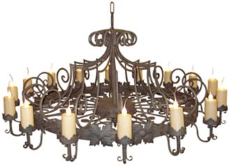"Laura Lee Madrid 16-Light 72"" Wide Large Candle Chandelier (R5367)"