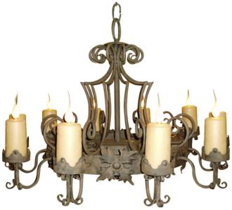 "Laura Lee Madrid 9-Light Large 48"" Wide Candle Chandelier (R5368)"