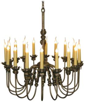 "Laura Lee Venus 18-Light Large 36"" Wide Candle Chandelier (R5373)"