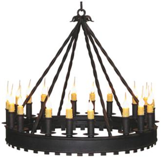 "Laura Lee Princeton 18-Light 32"" Wide Round Iron Chandelier (R5377)"