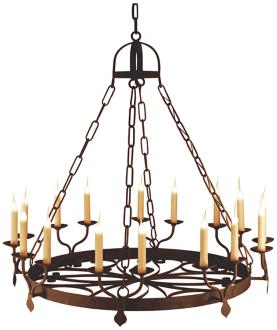 "Laura Lee Ellington 16-Light 46""W Large Candle Chandelier (R5378)"