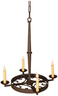 Laura Lee Leon 4-Light Chandelier (R5381)
