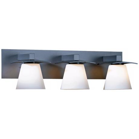 hubbardton forge bathroom lighting hubbardton forge wren opal bath 3 light wall sconce 18781