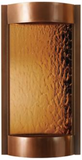 Contempo Solare Bronze Mirror & Copper Indoor Wall Fountain (T1625)