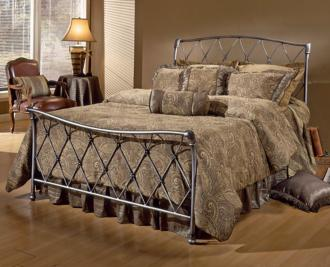 Hillsdale Silverton Brushed Silver Bed (King) (T4340)