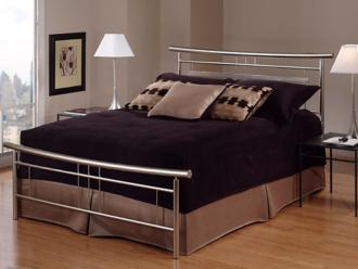 Hillsdale Soho Brushed Nickel Bed (King) (T4343)