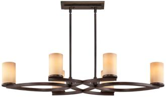 Fairport Mediterranean Bronze 6-Light Island Chandelier (T4925)